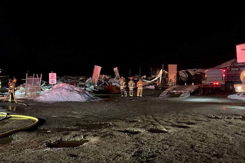 Warehouse building a total loss