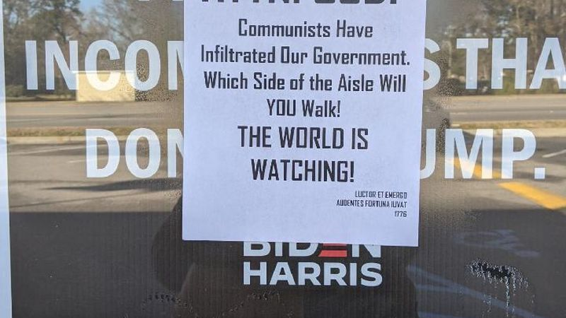 Volunteers with the Charleston County Democratic Party found their office vandalized Saturday...
