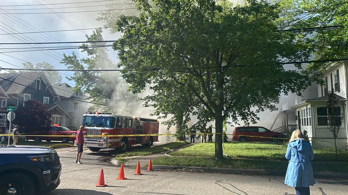 House fire at Horton and Jerome