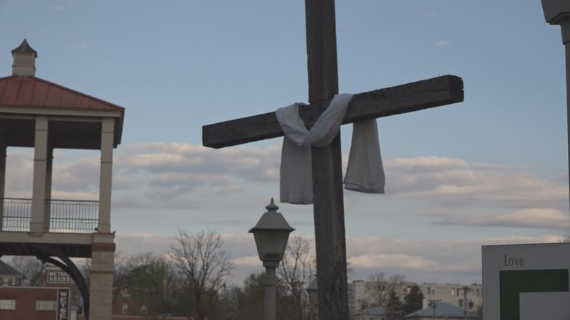 Easter Sunday service at First Presbyterian Church in Harrisonburg