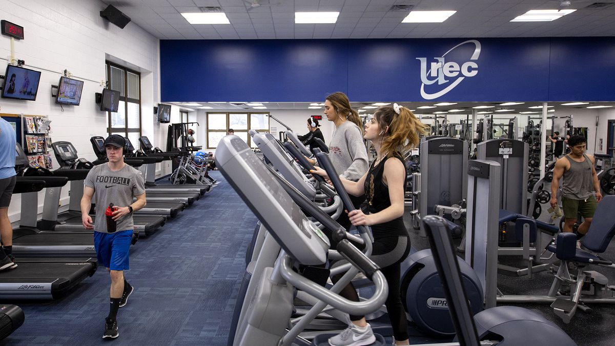 Courtesy: UW-Stout <br /><br />Alyssa Hyre, right, works out on an elliptical machine in the South fitness center on the UW-Stout campus.