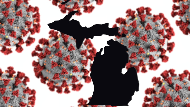 Michigan coronavirus graphic.