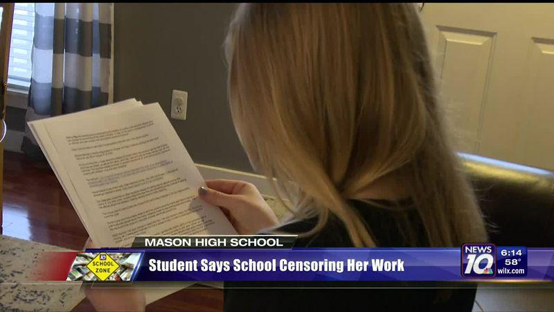 Mason High School student says school is censoring her work