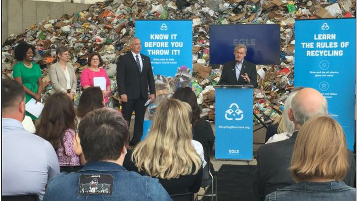 Michigan launches a new educational campaign to boost low recycling rates. (Source: WILX).