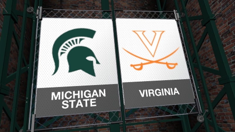 Michigan State's game against Virginia has been postponed. Cavaliers say there are positive...