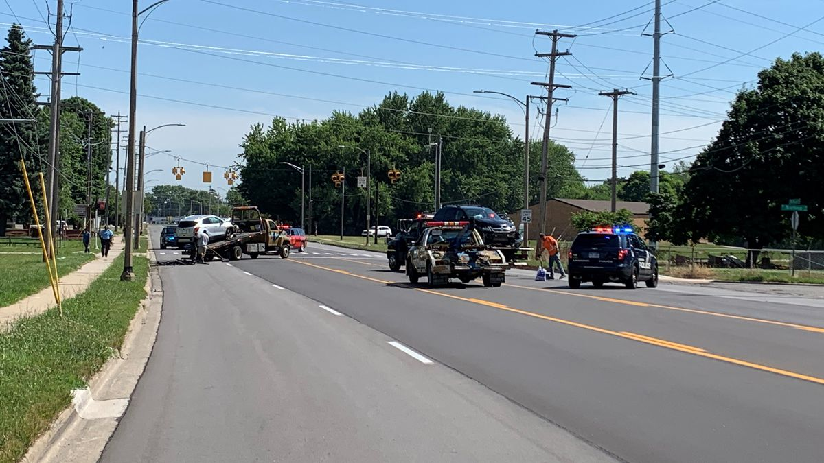 The accident involved a two-vehicle crash in Lansing at West Northrup Street and South Martin Luther King Junior Boulevard. (Source: WILX)