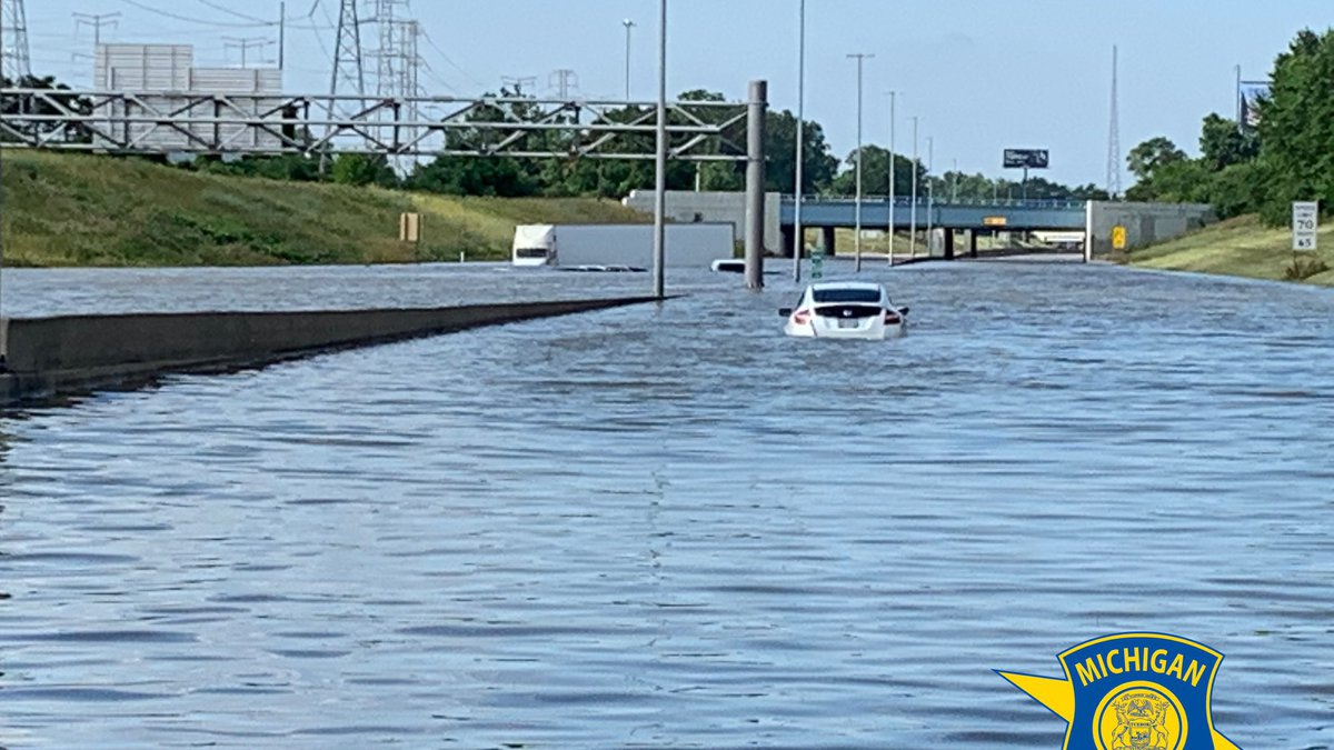 Flooding in Michigan after June 2021 storms.