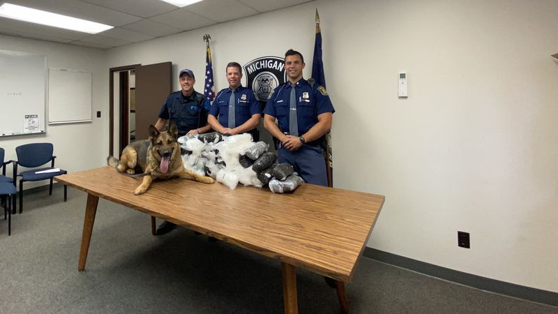 A traffic stop by MSP Fifth & Sixth District Hometown Security Teams (HST) yields seizure of 50...