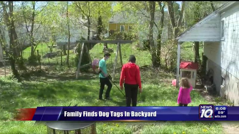 Family finds dog tags in backyard
