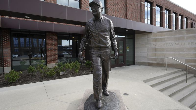 Schembechler Hall on the University of Michigan Campus in Ann Arbor, Mich., is shown May 14,...