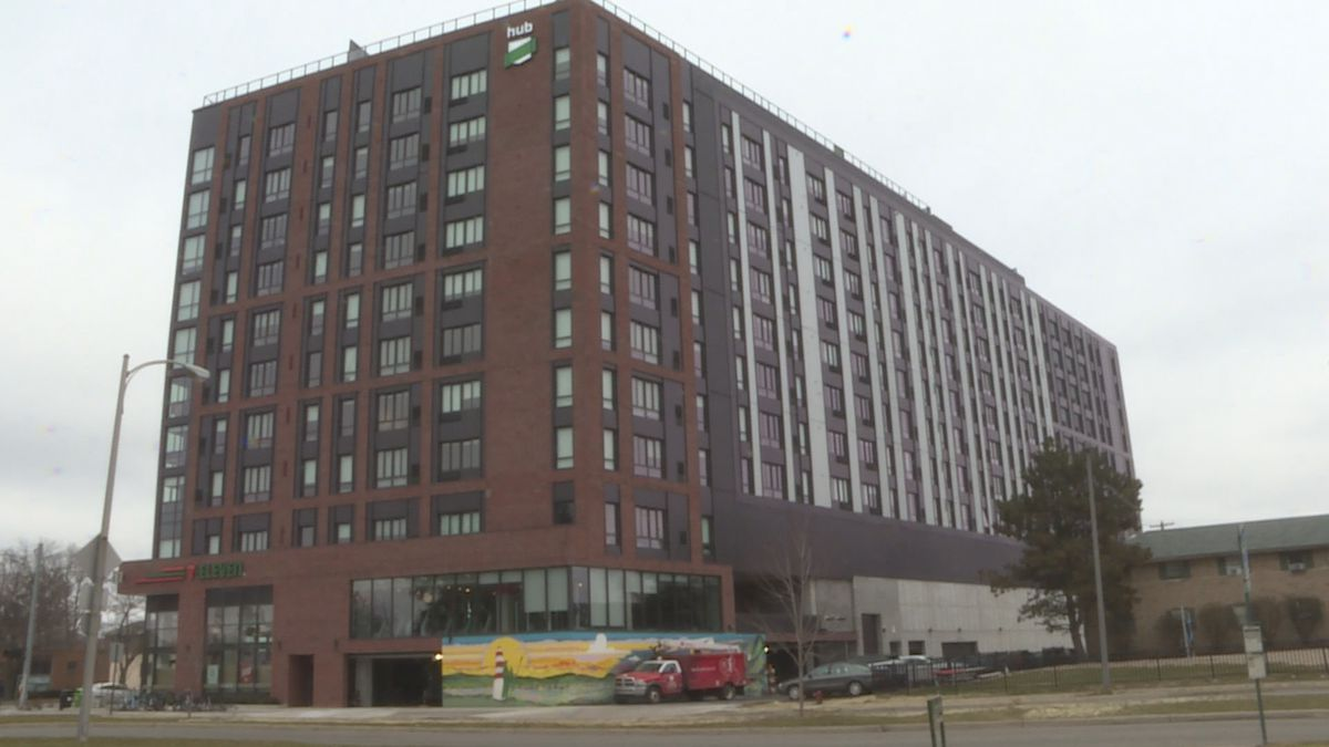 The HUB is one of many new high rise apartments in East Lansing.