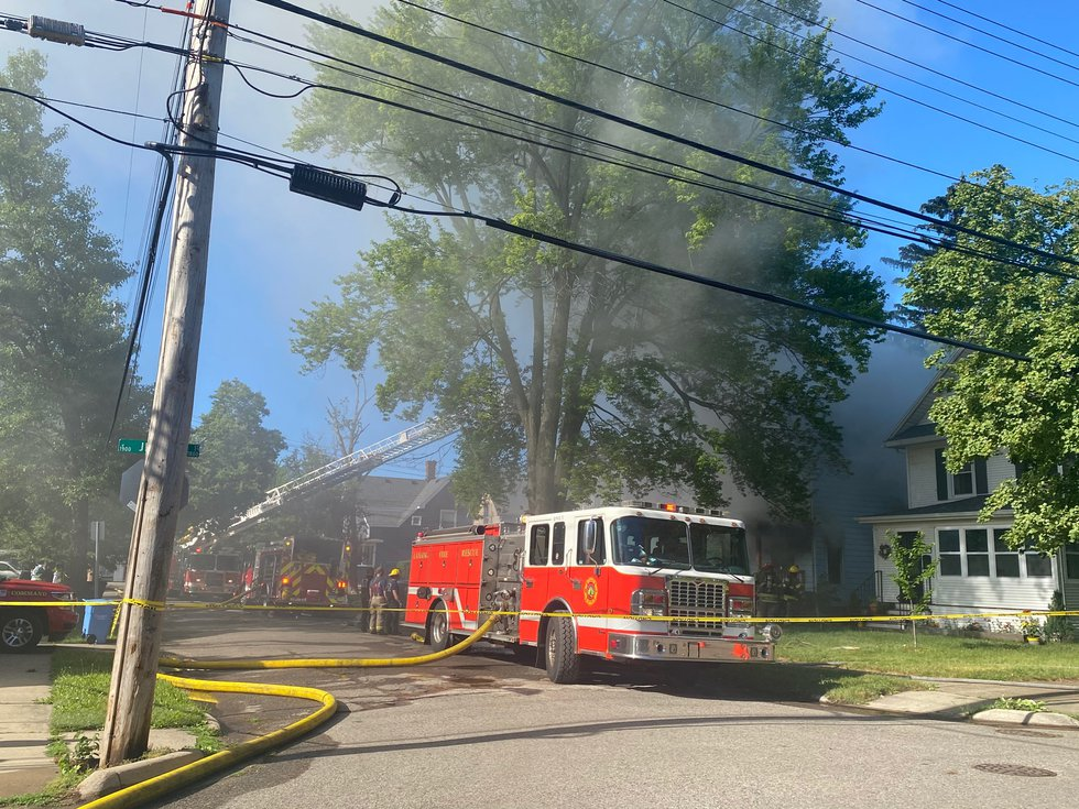 House fire on Horton and Jerome