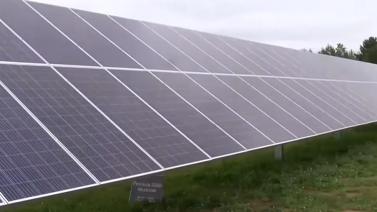 Solar panels, part of the Superior Solar Project