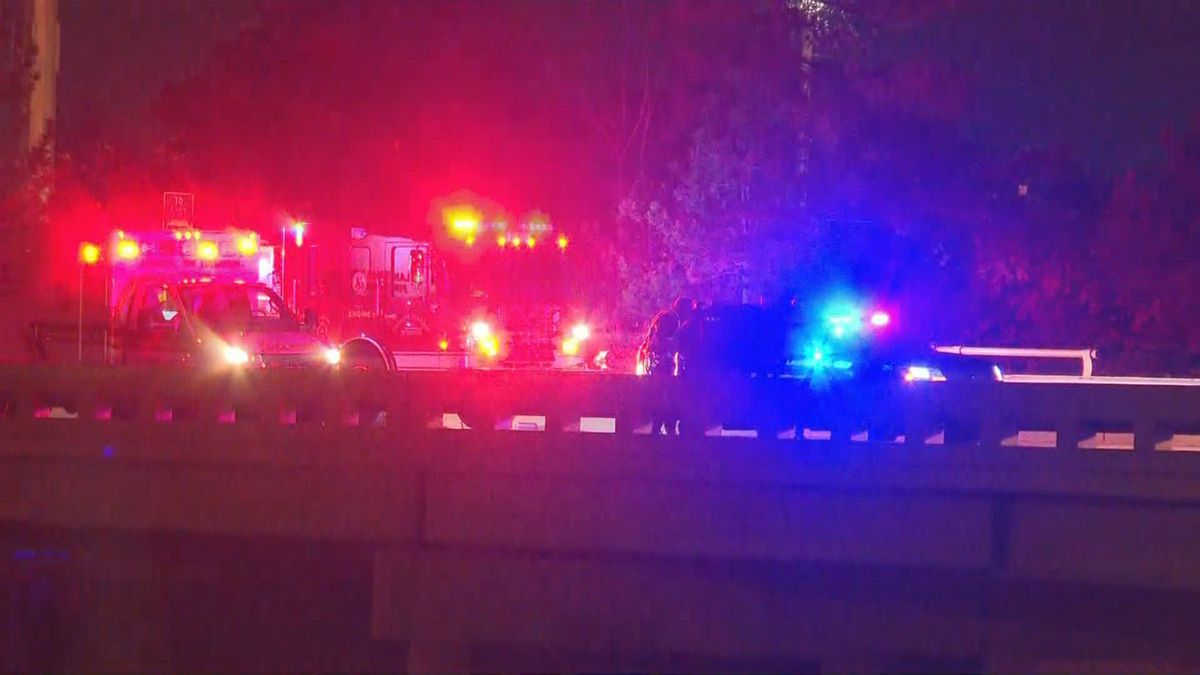 Emergency crews respond to accident near I-496 in Lansing Township on Monday, Oct. 28 (WILX)