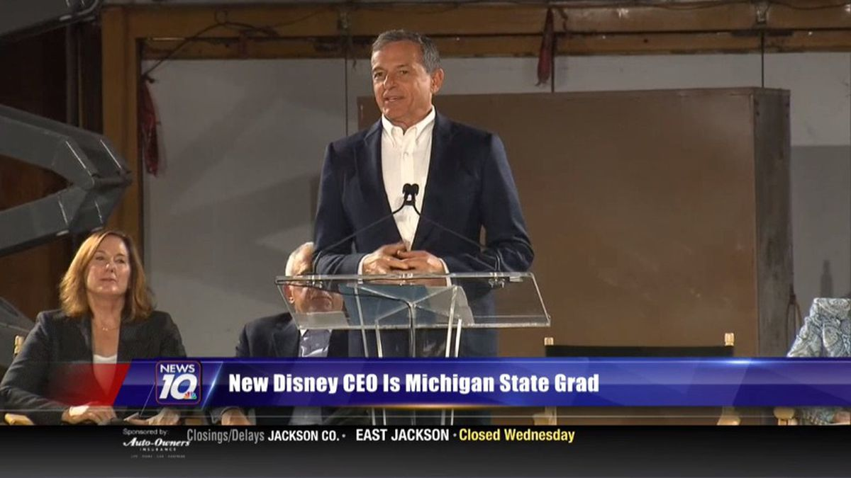Michigan State University grad, Bob Chapek, is the new CEO at Disney. (Source WILX)