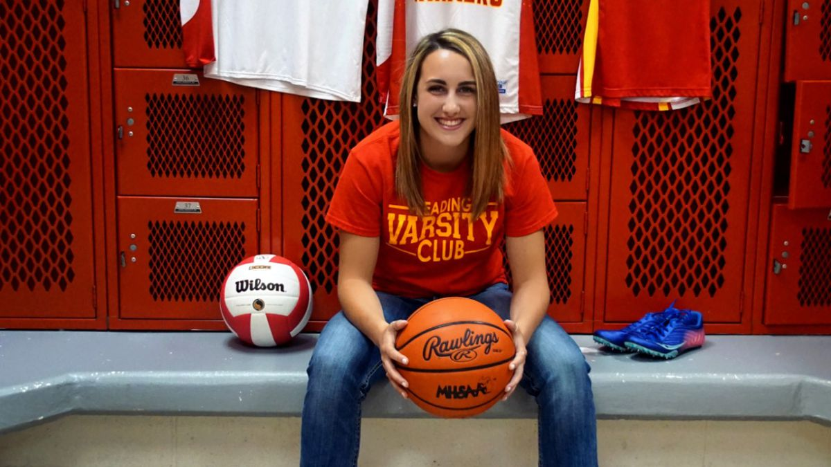 Isabella North is a three-sport athlete, playing volleyball, basketball and track. (Source: Chuck North)