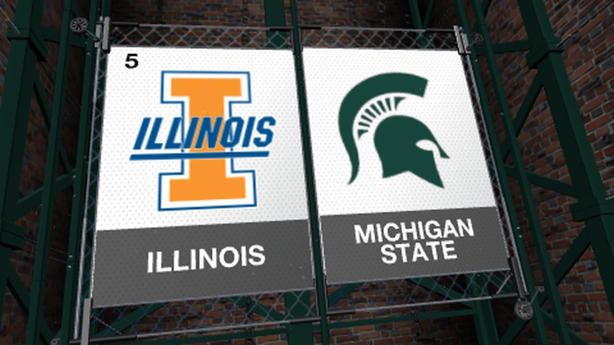 The Michigan State Spartans pulled off a massive upset over #5 Illinois on Tuesday.