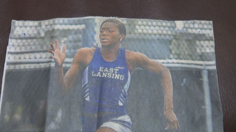East Lansing Sprinter Taylor Manson says she's still not used to the idea of being an Olympian.