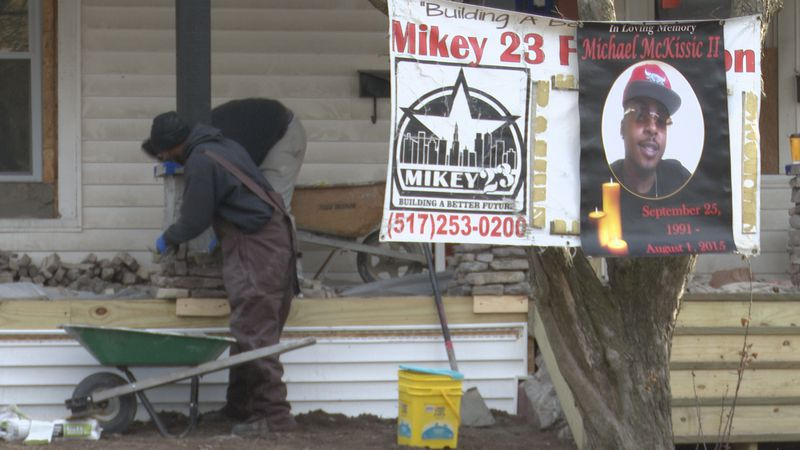 Michaek McKissic trains young people in construction while rehabbing the house on the 1500...