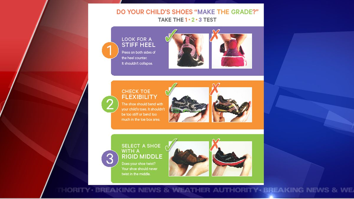The Michigan Podiatric Medical Association (MPMA) has released pointers on how to pick out the best shoes while back to school shopping.  (Source MPMA)