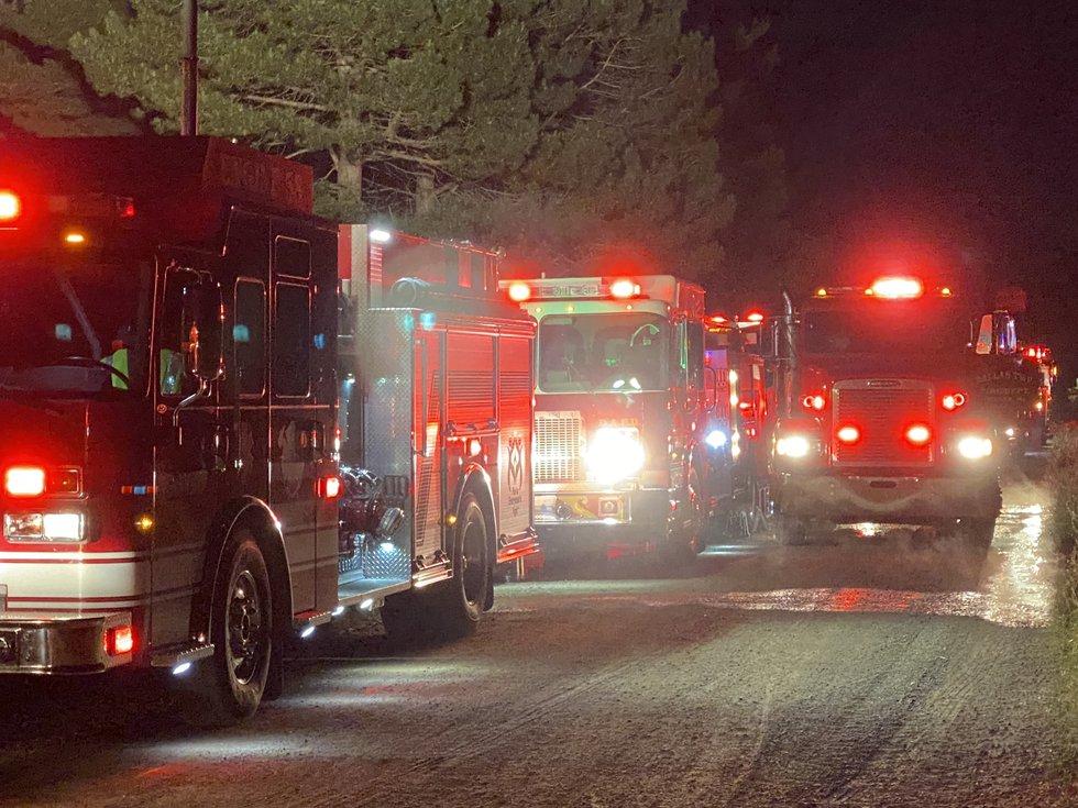 Barn fire in DeWitt