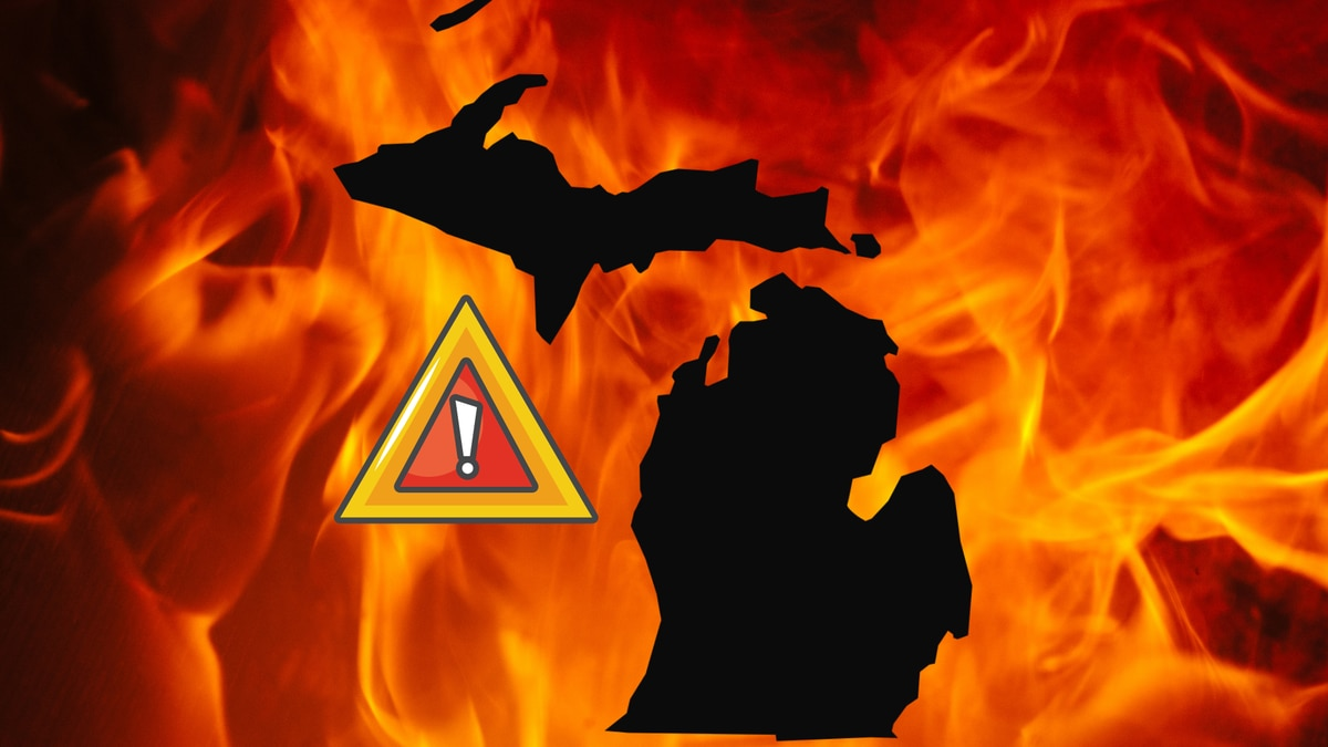 A wildfire covering 5,800 acres in Michigan's northern Lower Peninsula is about fully...