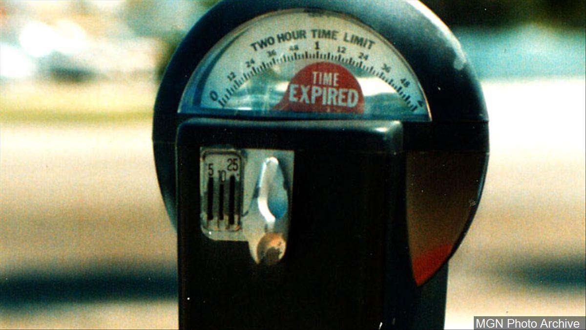 A parking meter.