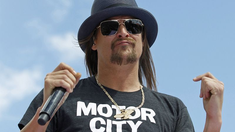 FILE - In this Feb. 22, 2015 file photo, Kid Rock performs at Daytona International Speedway in...