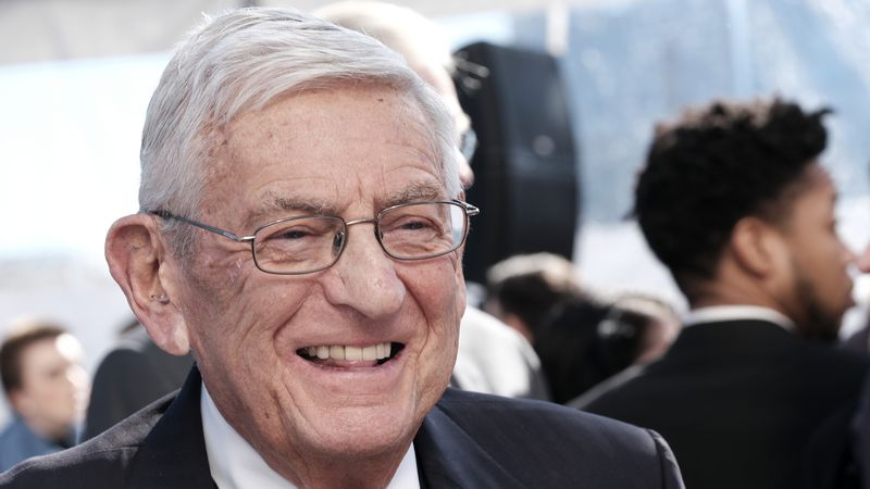 Billionaire philanthropist Eli Broad, arrives for a groundbreaking ceremony for The Grand, a...