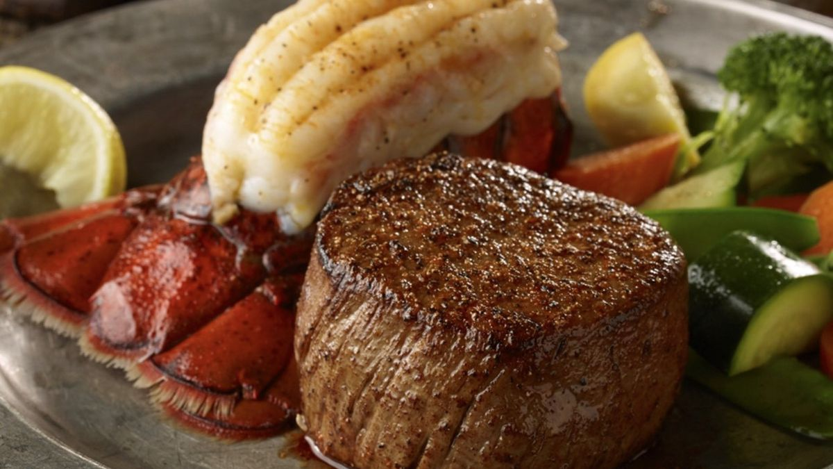 Longhorn Steakhouse's Filet and Lobster Tail dish. (Source: Erin Robertson)