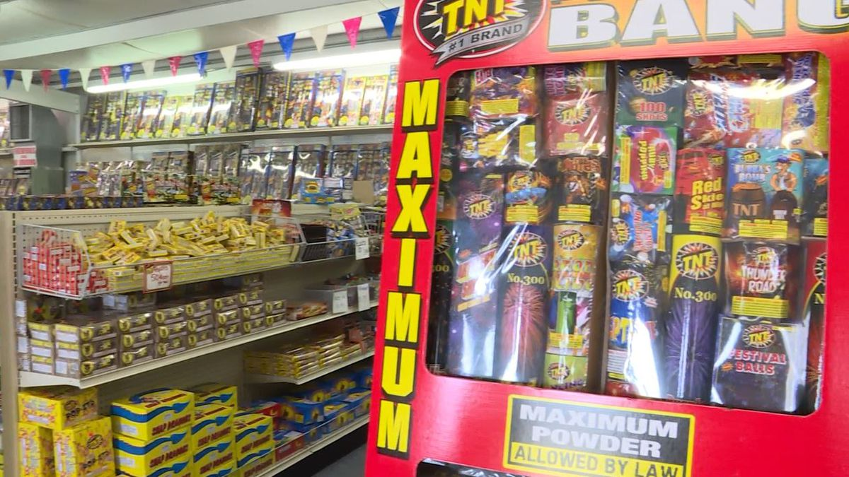 Firework selection at BJ's Fireworks, US Hwy 231 S (Across from Center Stage)