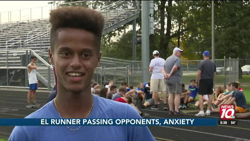The senior runner is one of the fastest in Mid-Michigan.
