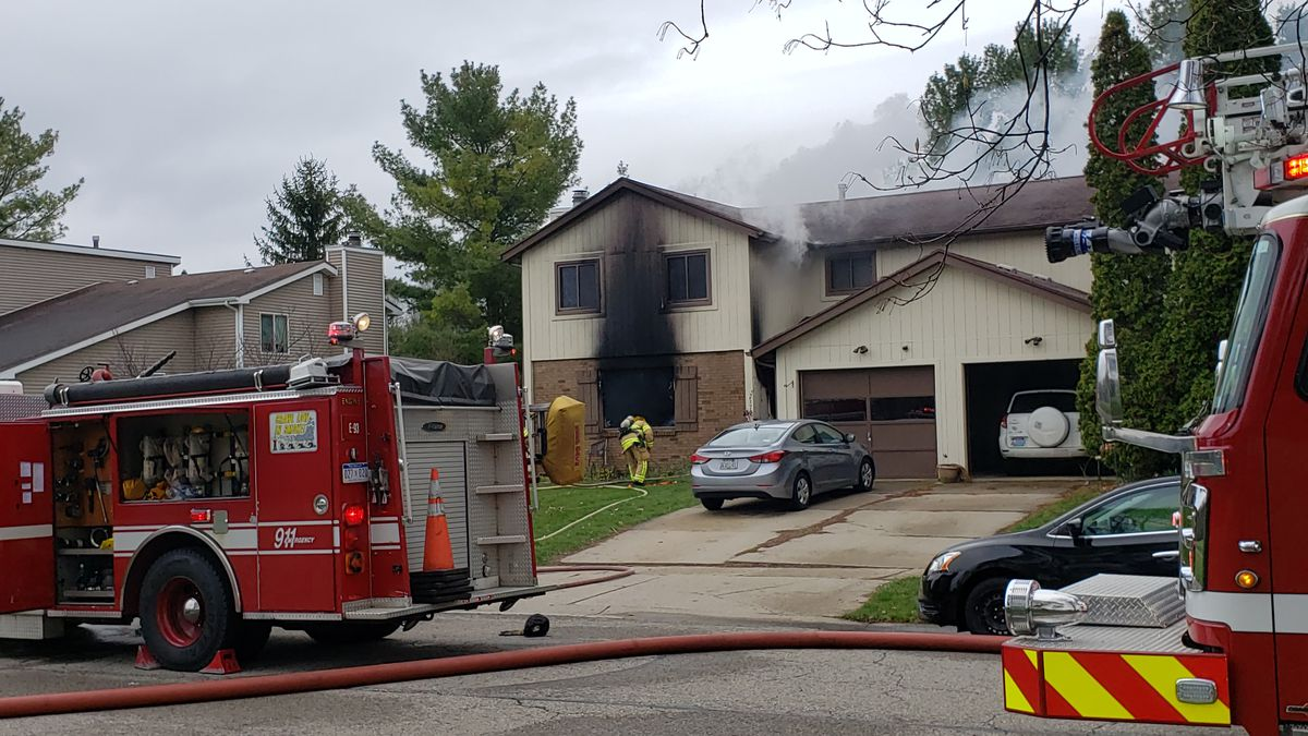 One of the tenants said the fire started after his two roommates were cooking with grease. (Source: WILX)