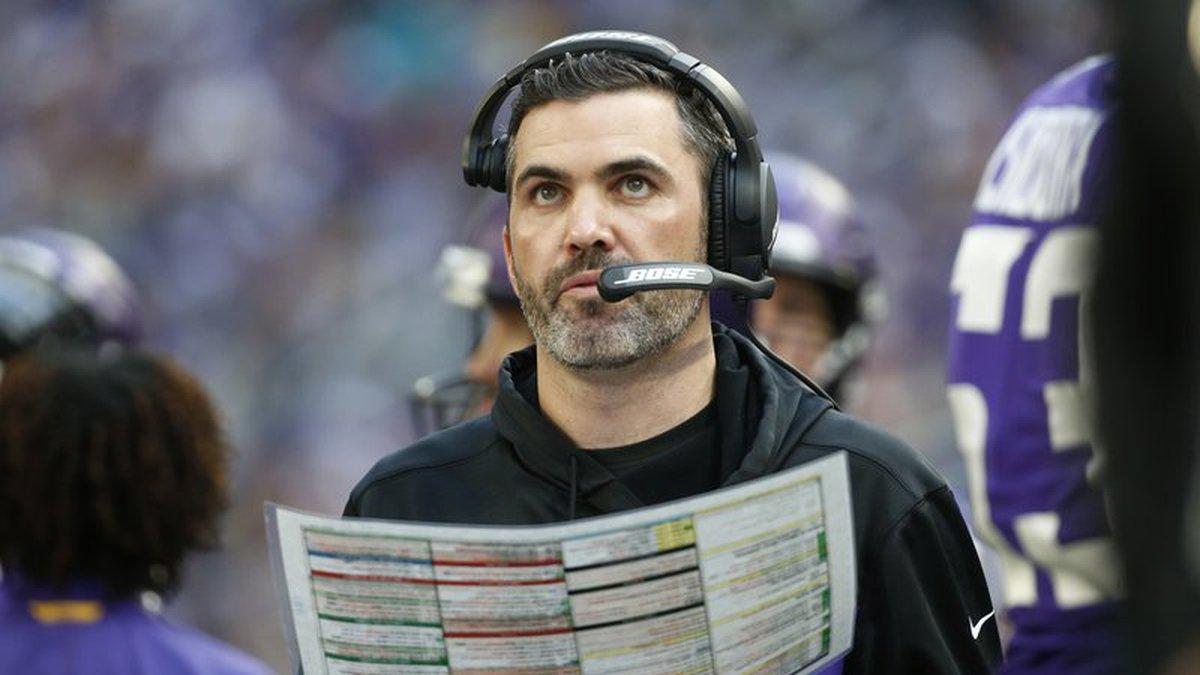 FILE - In this Dec. 16, 2018, file photo, Minnesota Vikings interim offensive coordinator...