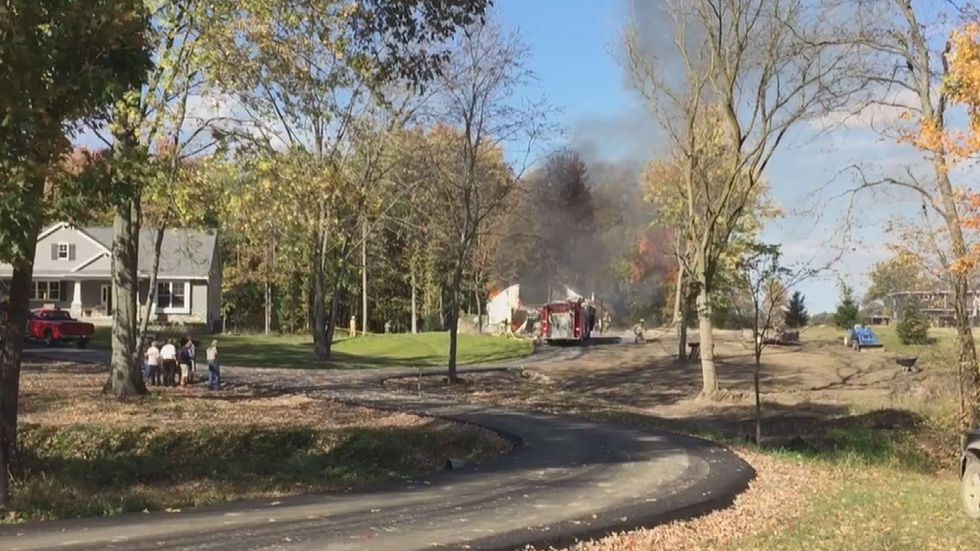 Nobody injured in Williamston barn fire Sunday afternoon