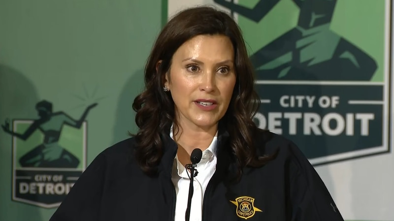 Gov. Whitmer visited Detroit to join Mayor Mike Duggan and others to assess the flooding damage...