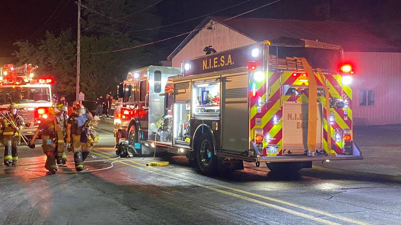 A fire broke out at a Williamston manufacturing plant around 10:30 Tuesday night.