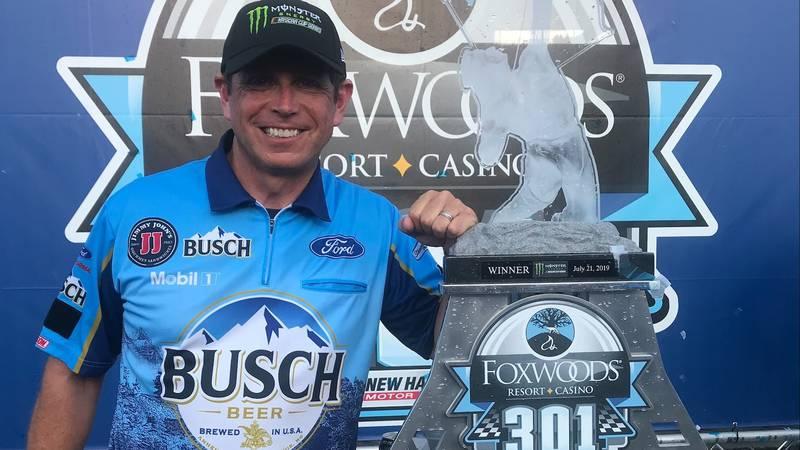 Holt native Tim Fedewa, former NASCAR driver turned NASCAR spotter