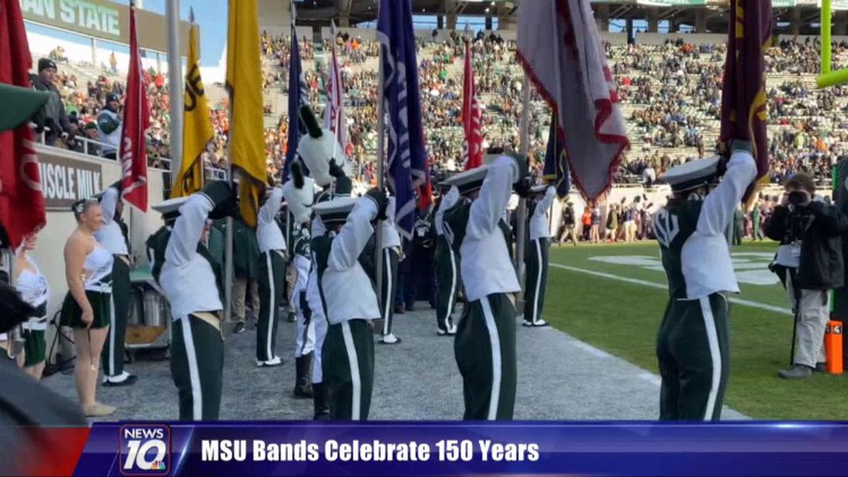 While it may be a tough year for the MSU football team, there is one thing the Spartan's can celebrate, their bands. (Source: WILX)
