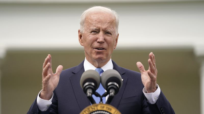President Joe Biden speaks on updated guidance on face mask mandates and COVID-19 response, in...
