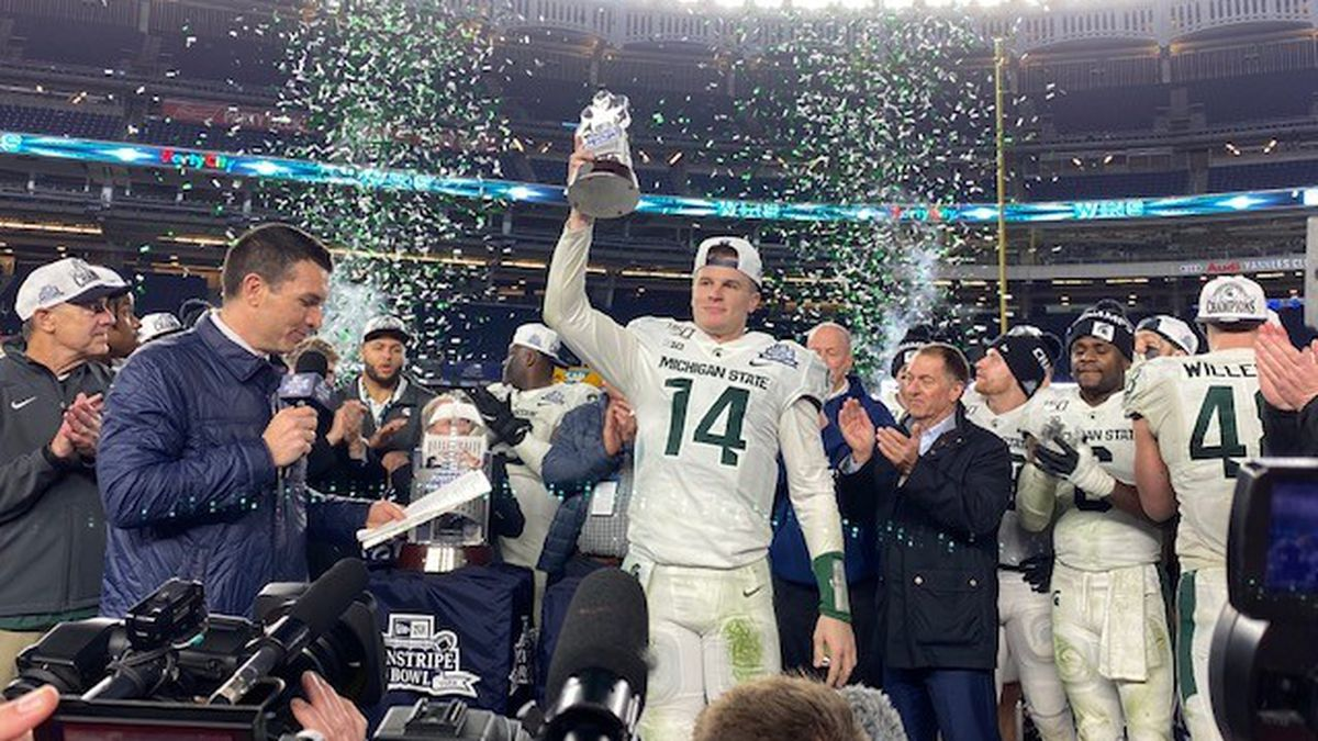 The MSU Spartans have defeated Wake Forest Demon Deacons in the Pinstripe Bowl Friday 27 to 21. (Source: WILX)