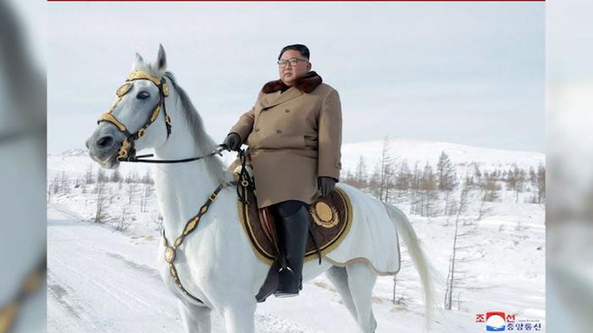 North Korean leader Kim Jong Un visits Mount Paektu, one of the country's most important and geological sites. (Source: Korean Central News Agency/CNN)