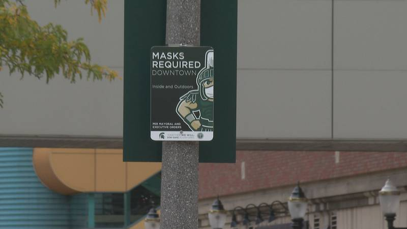 Signs in downtown East Lansing.