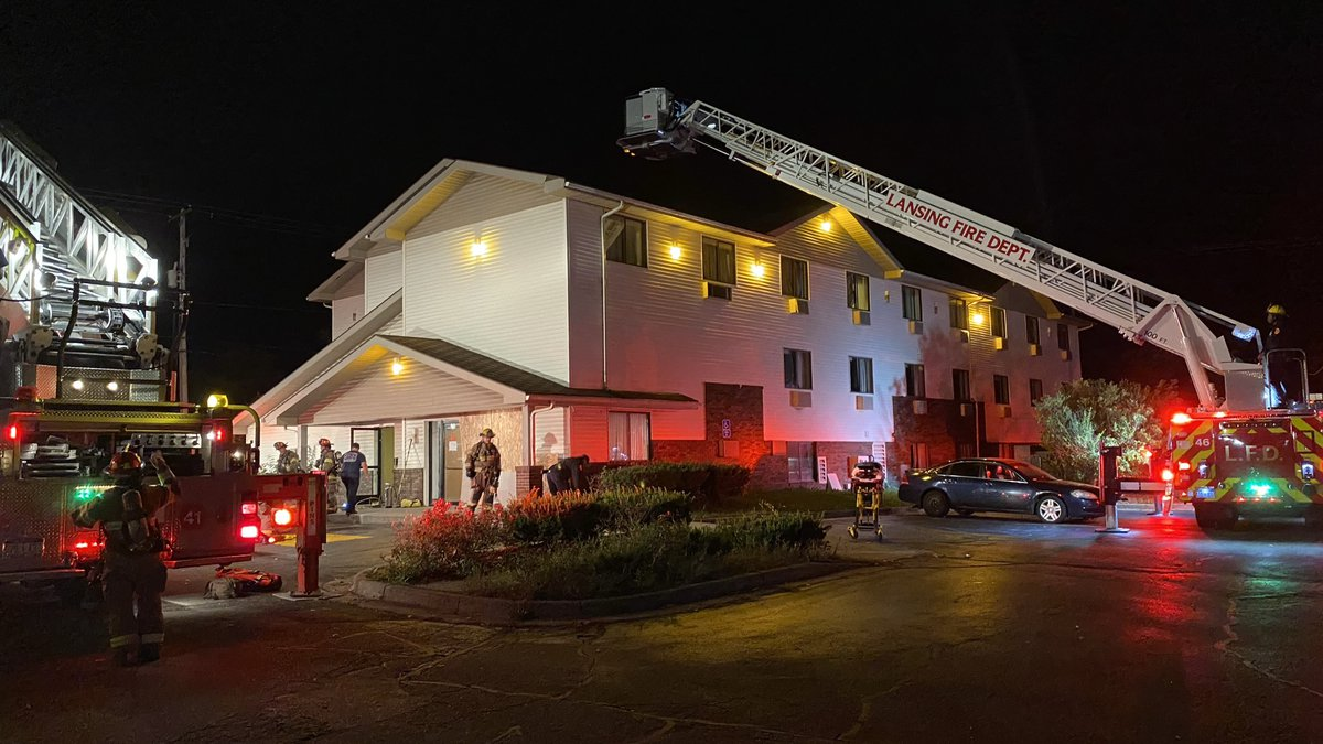 Reports of a fire at the Super Inn on American Road in South Lansing came in just after midnight.