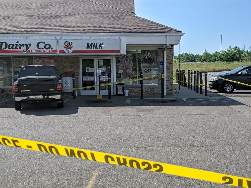 A man was stabbed at a Quality Dairy in Dimondale during an argument over wearing a face mask.