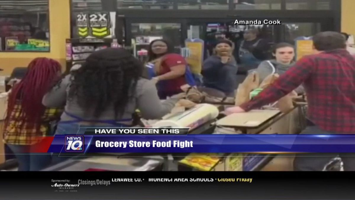 The fight broke out at a suburban Kroger in Nashville earlier this week. (Source WILX)