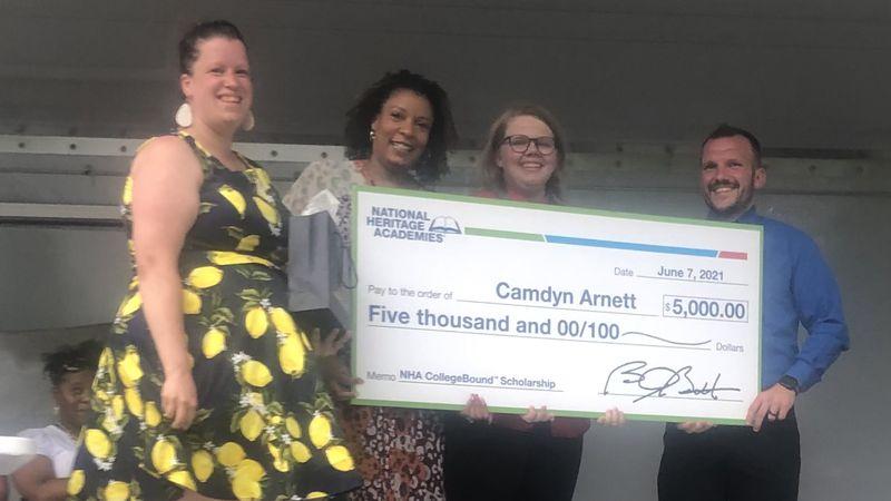 Lansing 8th grader receives college scholarship