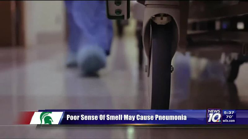 Loss of smell could be a sign of pneumonia