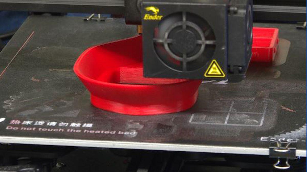 East Lansing Public Schools is using 3D printers to make N-95 masks.