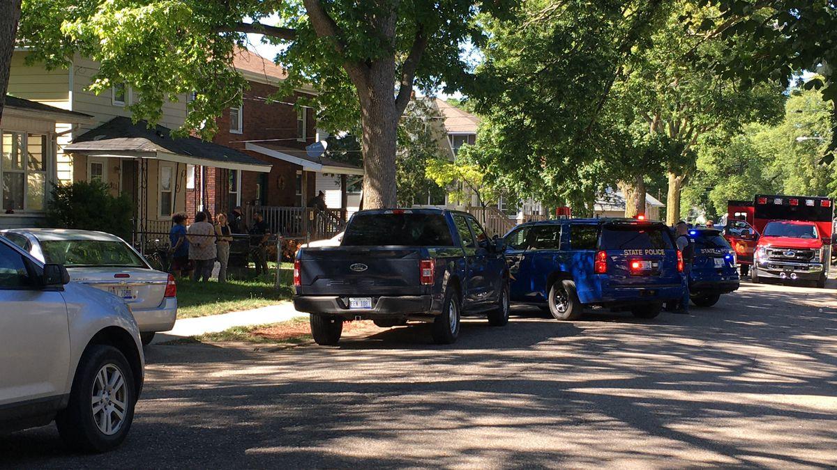 MSP makes warrant arrest at 900 Block of Clyde Street.